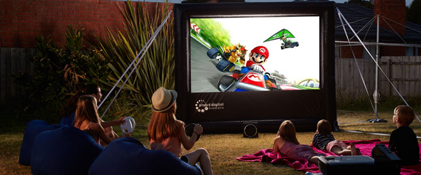 BackYard Cinema hire indoor or outdoor