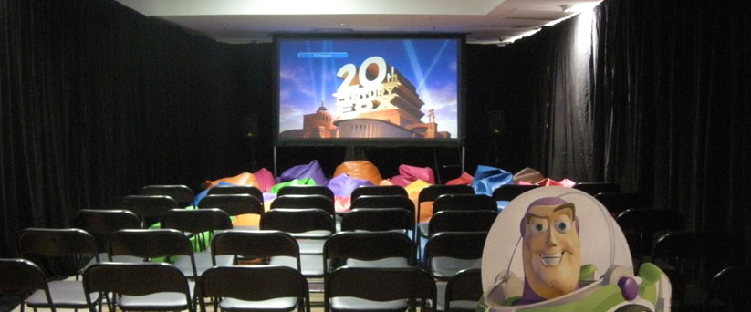 Indoor projection hire